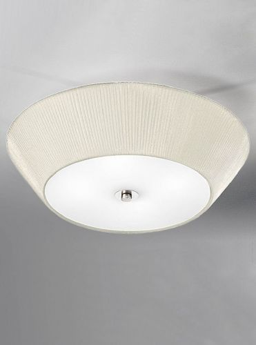 Franklite FL2134/4 Satin Nickel Ceiling Light (Class 2 Double Insulated)